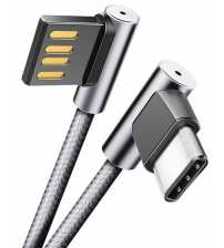 RCB0577 Type- C Dual-end L-Shape Metal Charge & Sync Round Cable W/Version A 1.2M